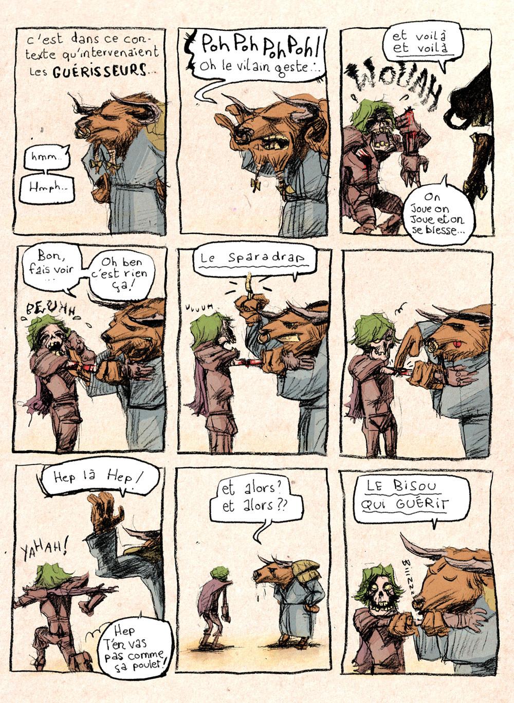 Aventures de Stevostin, tome 1 : La Porte Sombre. Planche 47.