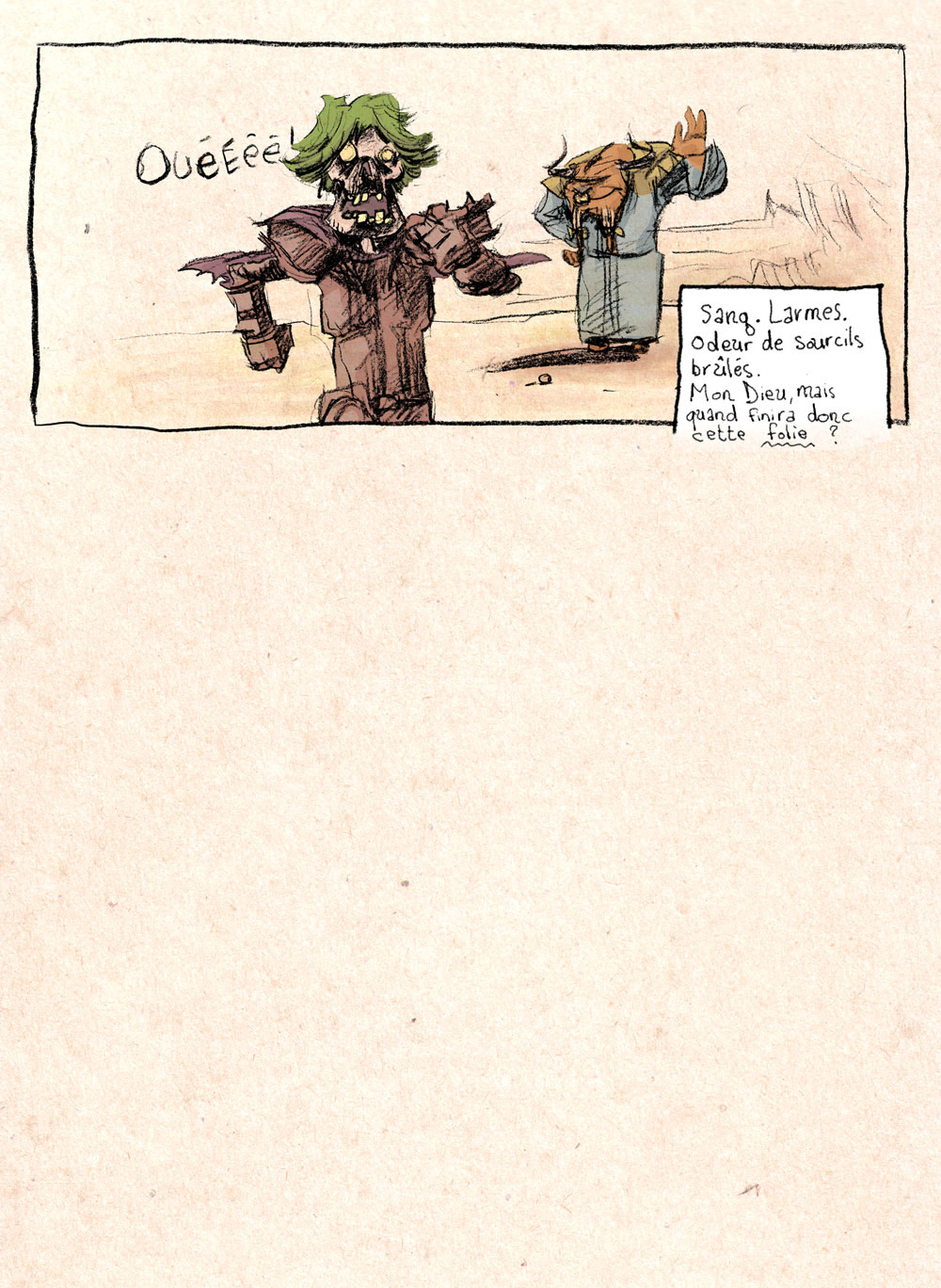 Aventures de Stevostin, tome 1 : La Porte Sombre. Planche 48.