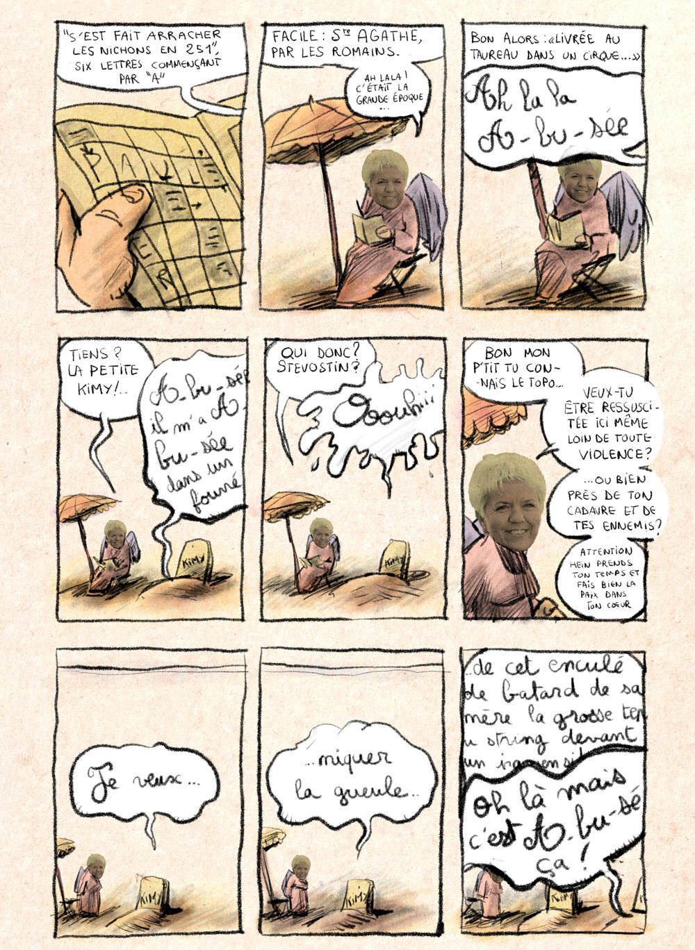 Aventures de Stevostin, tome 1 : La Porte Sombre. Planche 49.