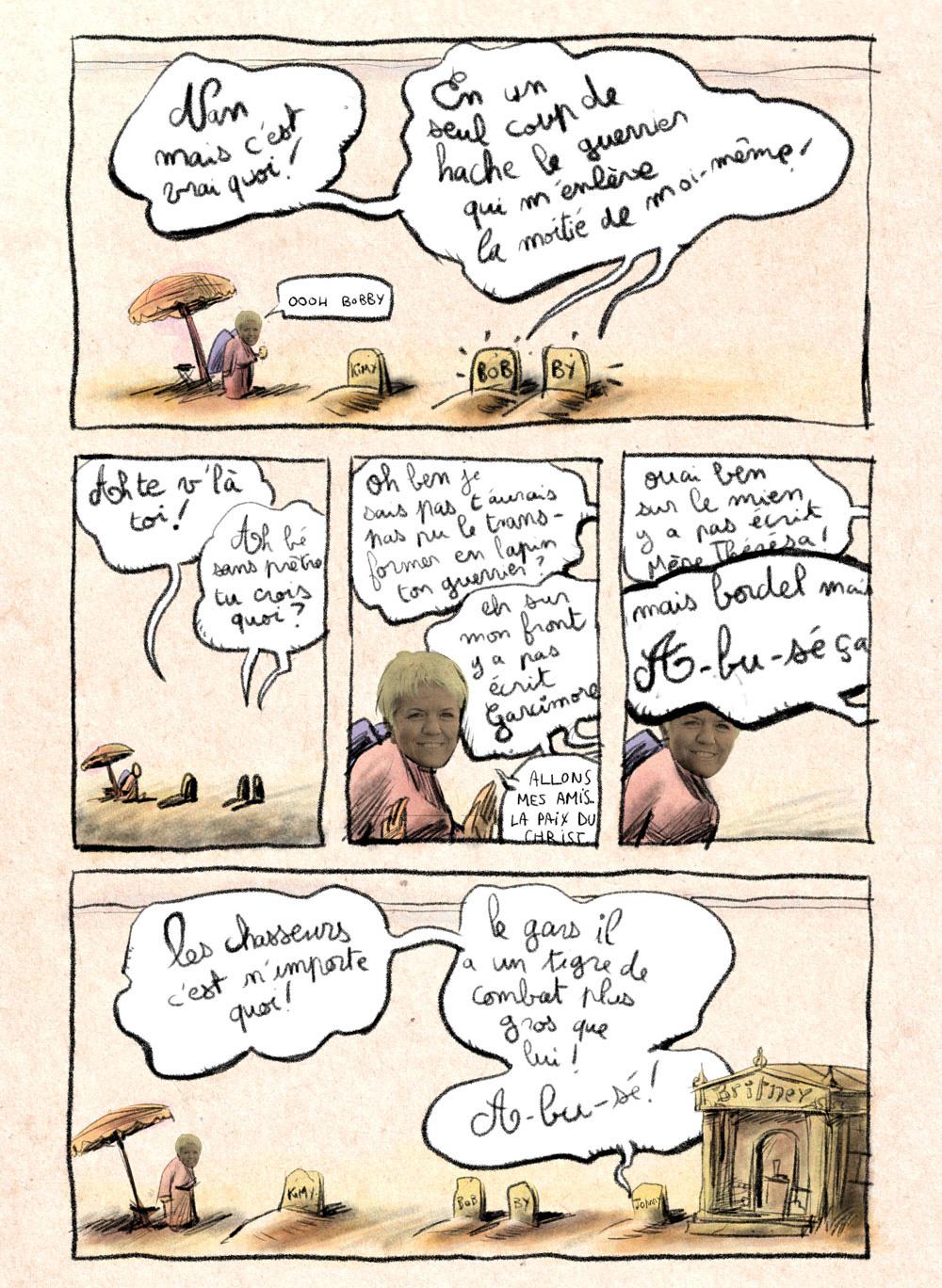 Aventures de Stevostin, tome 1 : La Porte Sombre. Planche 50.