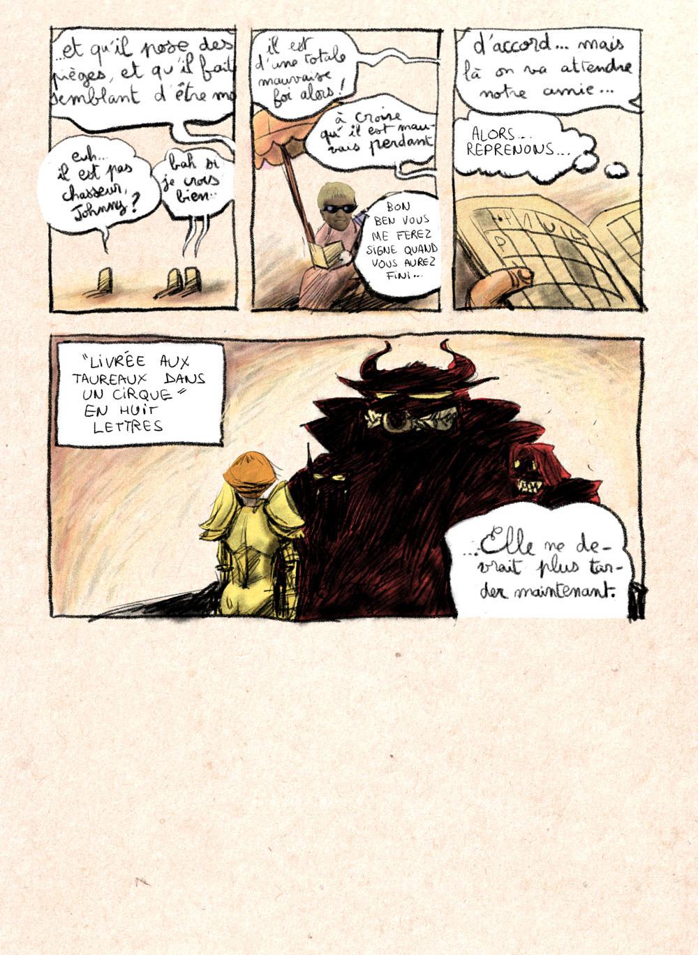 Aventures de Stevostin, tome 1 : La Porte Sombre. Planche 51.