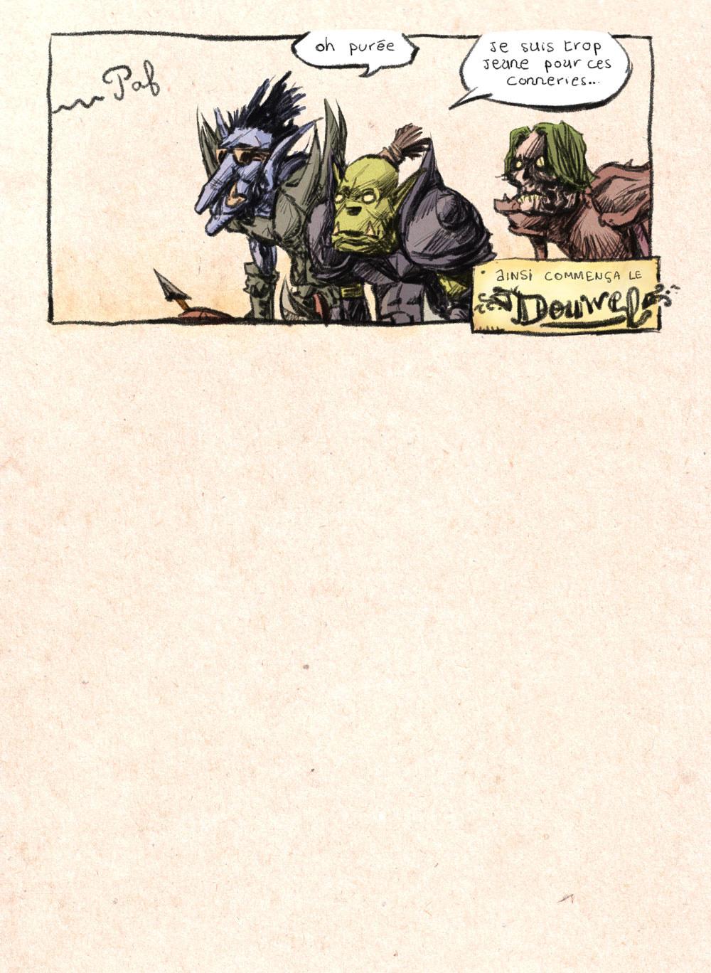 Aventures de Stevostin, tome 1 : La Porte Sombre. Planche 54.