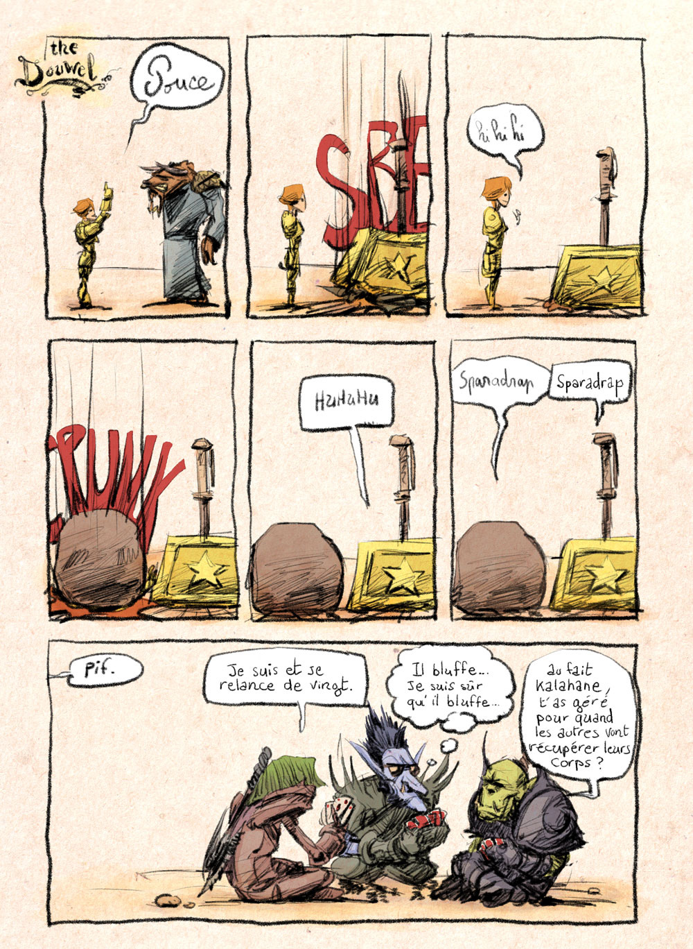 Aventures de Stevostin, tome 1 : La Porte Sombre. Planche 55.