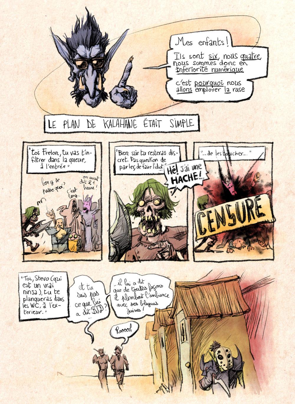 Aventures de Stevostin, tome 1 : La Porte Sombre. Planche 75.