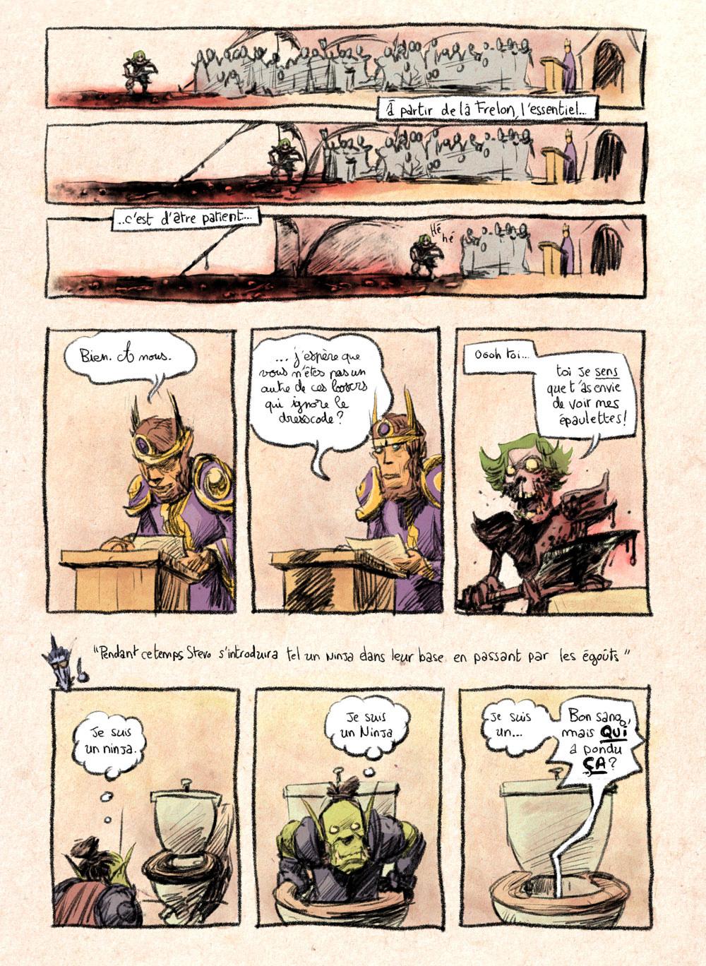 Aventures de Stevostin, tome 1 : La Porte Sombre. Planche 77.