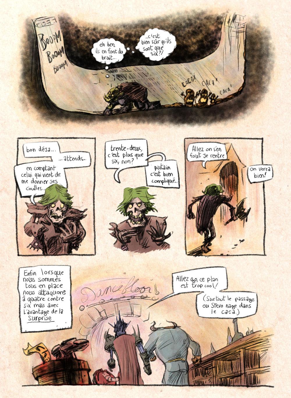 Aventures de Stevostin, tome 1 : La Porte Sombre. Planche 78.