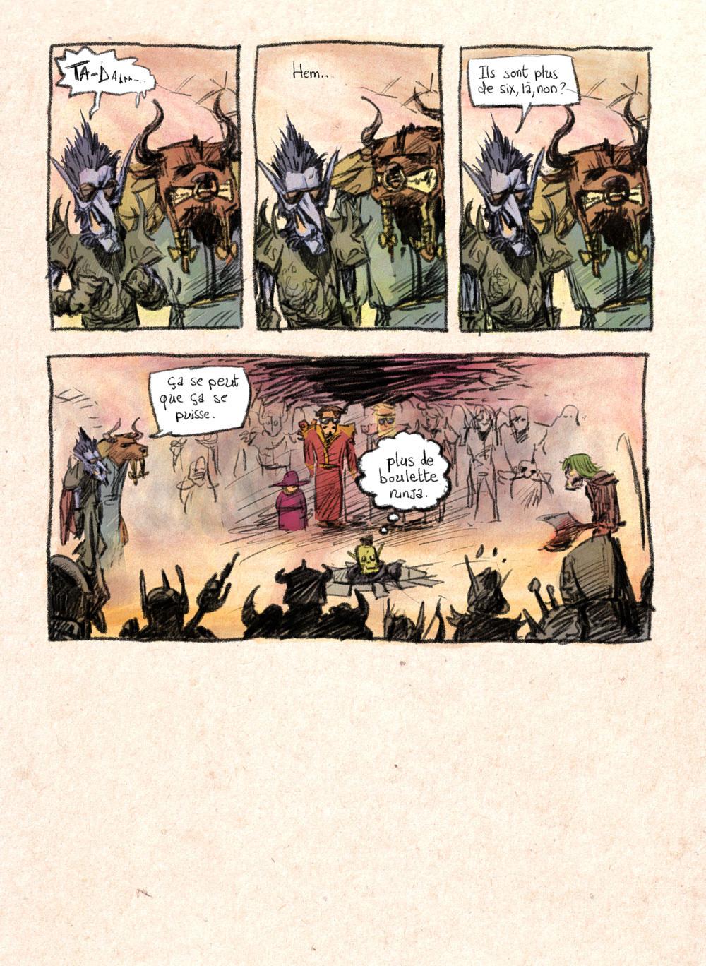 Aventures de Stevostin, tome 1 : La Porte Sombre. Planche 79.