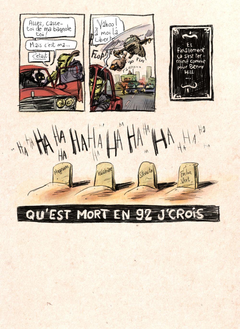 Aventures de Stevostin, tome 1 : La Porte Sombre. Planche 83.