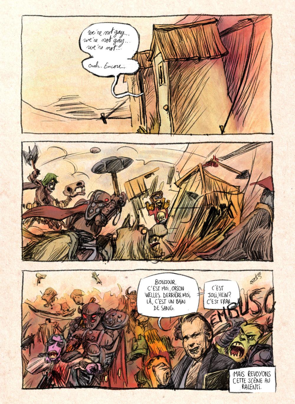 Aventures de Stevostin, tome 1 : La Porte Sombre. Planche 86.