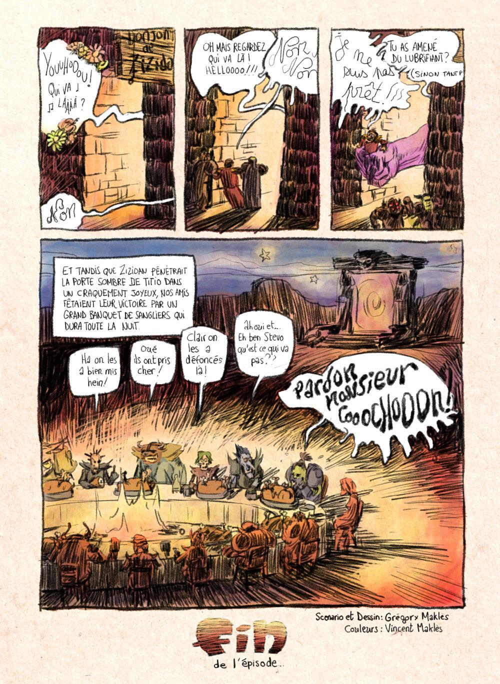 Aventures de Stevostin, tome 1 : La Porte Sombre. Planche 90.