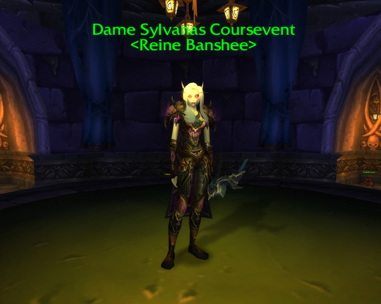 Sylvanas Coursevent dans World of Warcraft: Wrath of the Lich King.