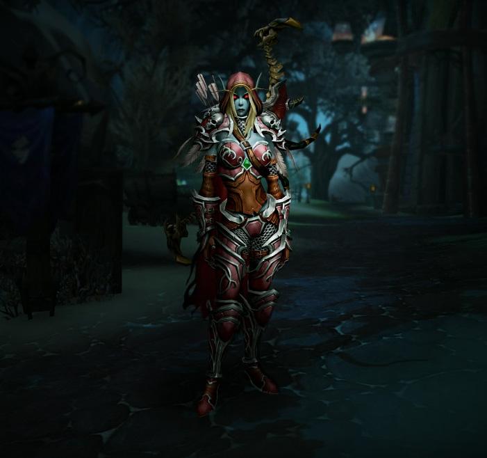 Sylvanas Coursevent dans World of Warcraft: Legion.