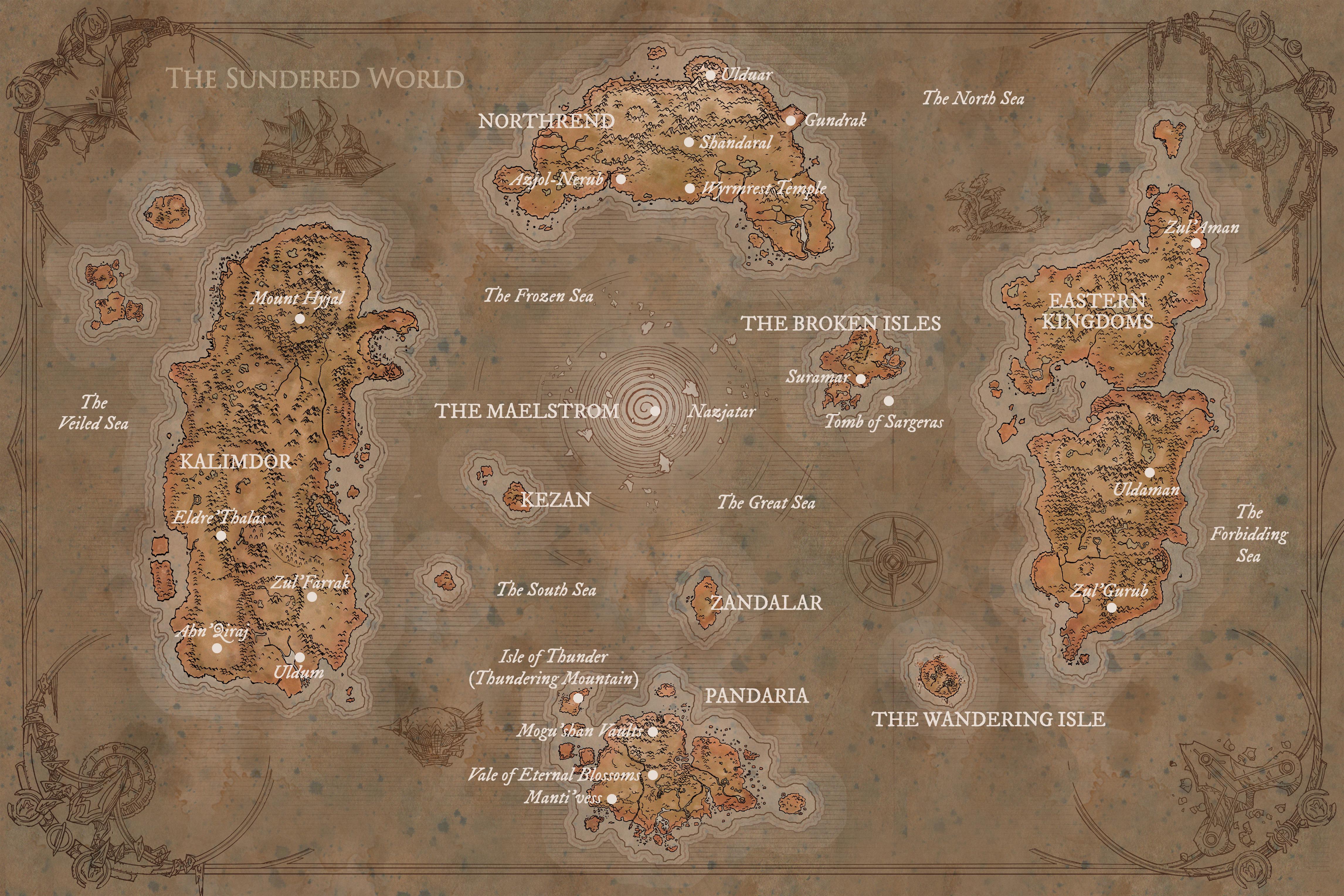 Carte D Azeroth Dans Le Livre World Of Warcraft Chroniques