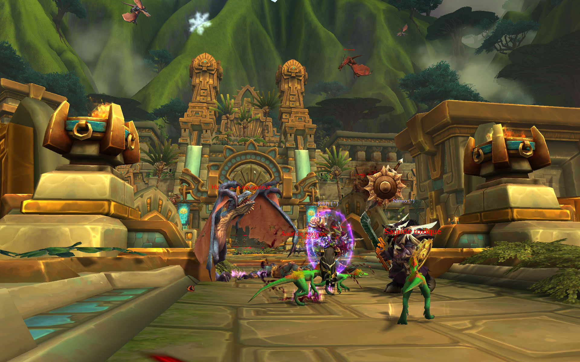 Screenshot du donjon Atal'Dazar de World of Warcraft: Battle for Azeroth.