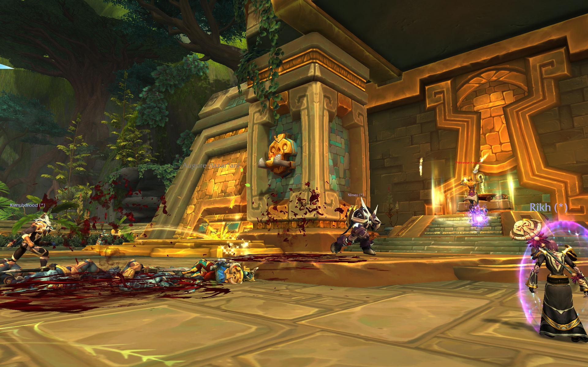 Screenshot du donjon Atal'Dazar de World of Warcraft: Battle for Azeroth.