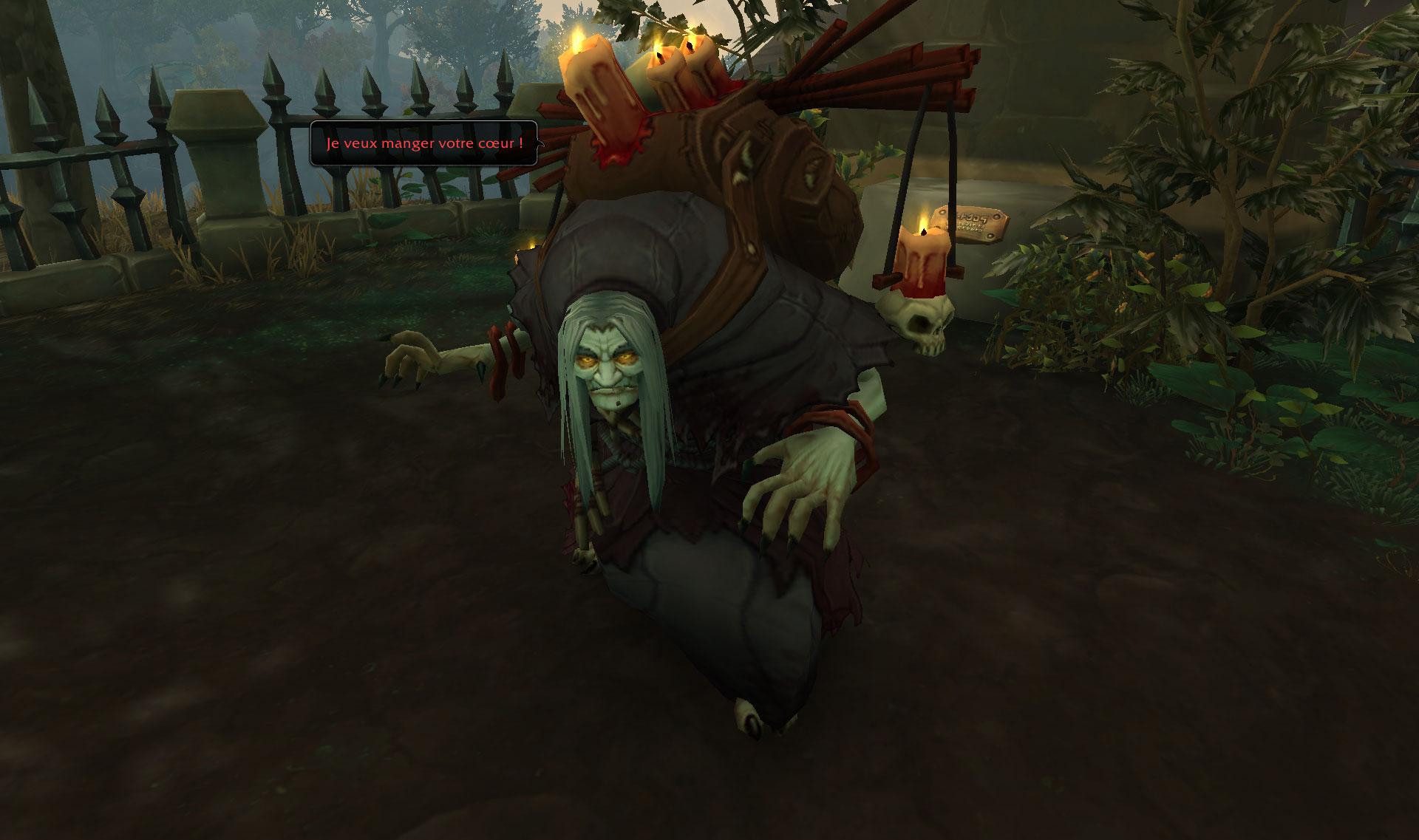 Screenshot de la zone de Drustvar dans World of Warcraft: Battle for Azeroth.