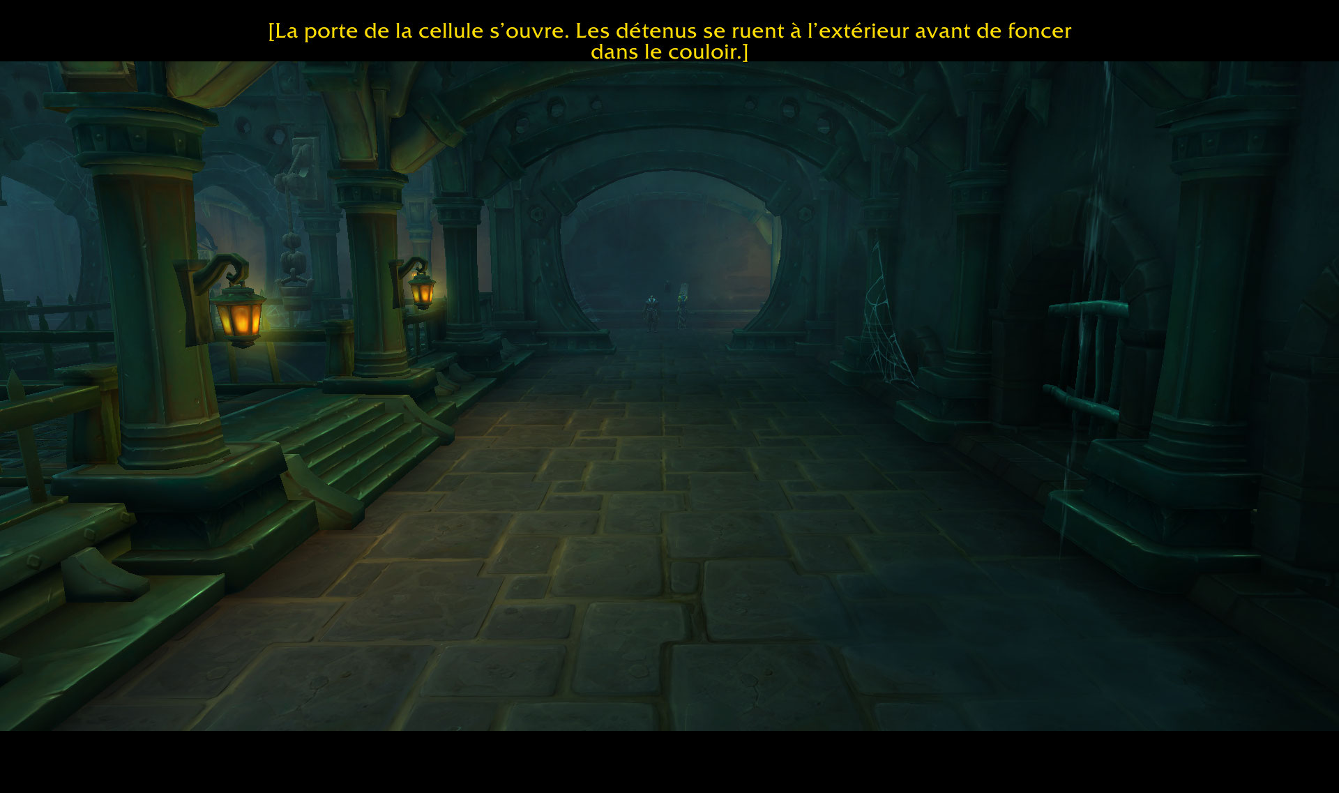 Screenshot du scénario d'introduction de l'Alliance dans World of Warcraft: Battle for Azeroth.