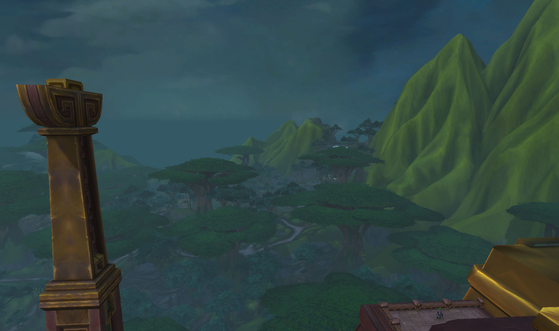 Screenshot de la région de Zuldazar dans World of Warcraft: Battle for Azeroth.