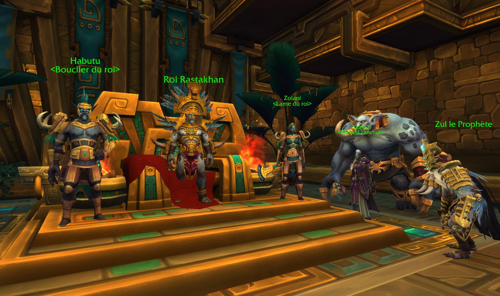 Screenshot de la région de Zuldazar dans World of Warcraft: Battle for Azeroth.