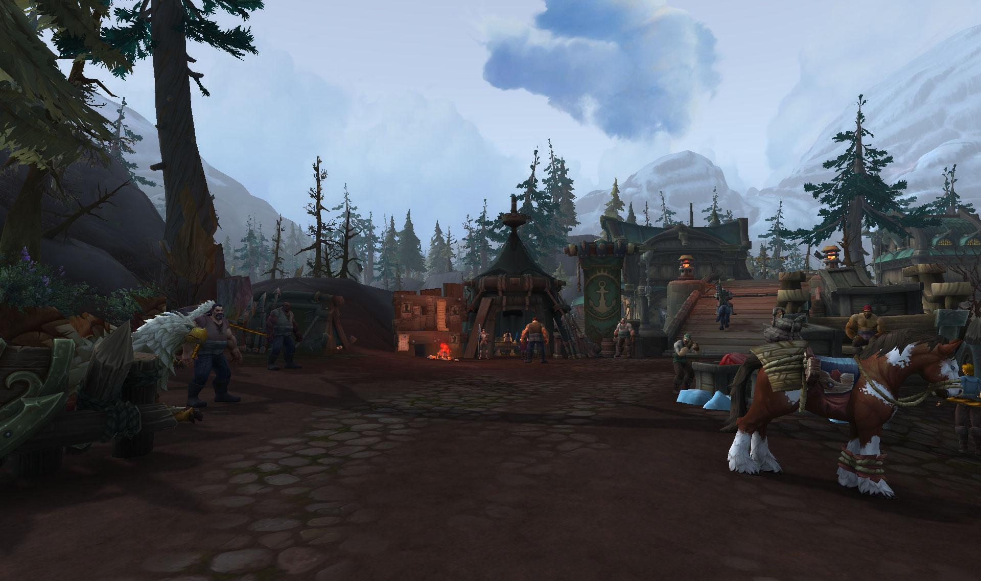 Screenshot de la zone Rade de Tiragarde de World of Warcraft: Battle for Azeroth.