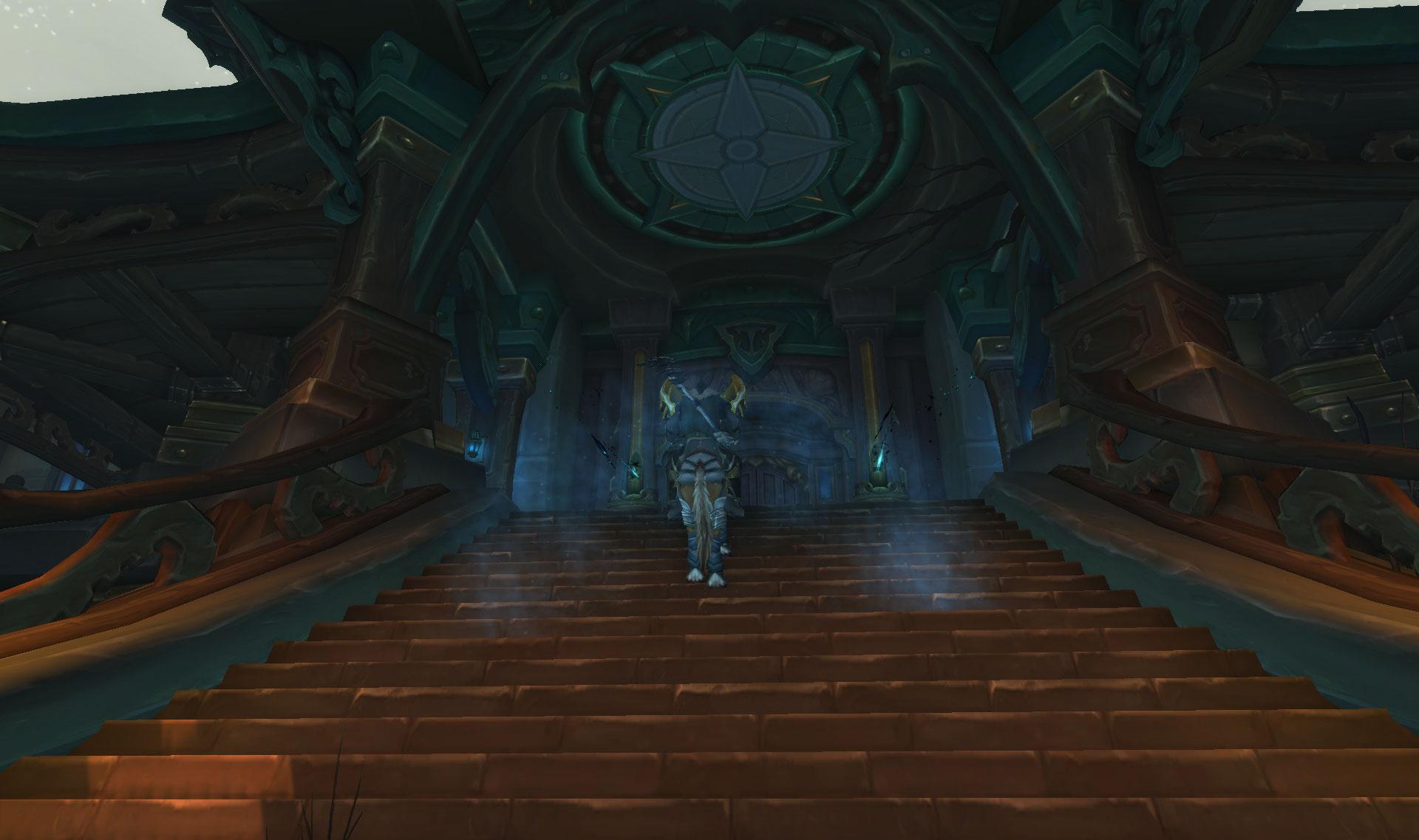 Screenshot de la zone Drustvar sur World of Warcraft: Battle for Azeroth.