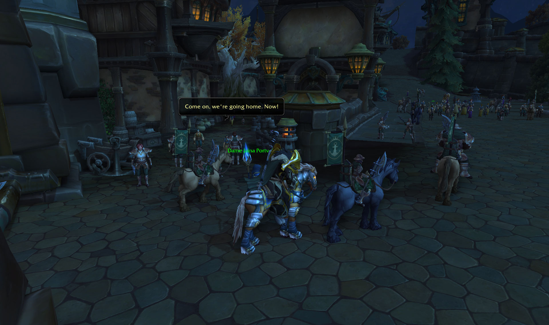 Screenshot de la zone Rade de Tiragarde sur World of Warcraft: Battle for Azeroth.