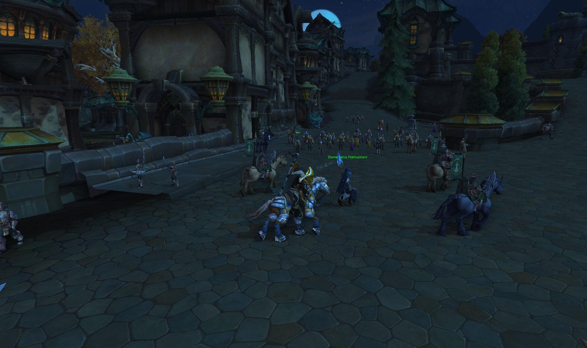 Screenshot de la zone Rade de Tiragarde sur World of Warcraft: Battle for Azeroth.