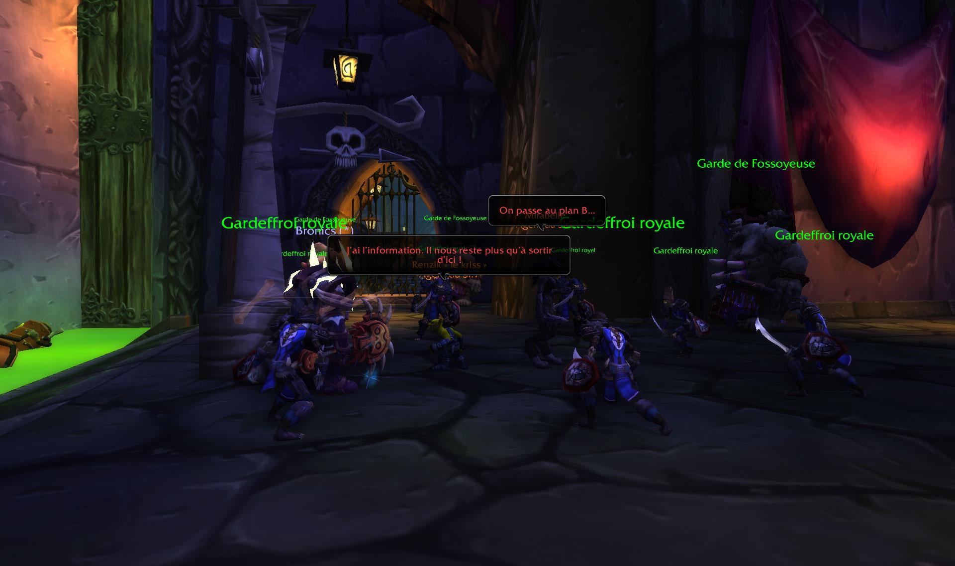 Screenshot de la Bataille de Lordaeron sur World of Warcraft: Battle for Azeroth (côté Horde).