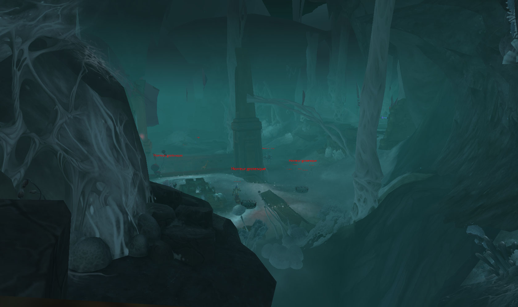 Screenshot du donjon Tréfonds Putrides sur World of Warcraft: Battle for Azeroth.