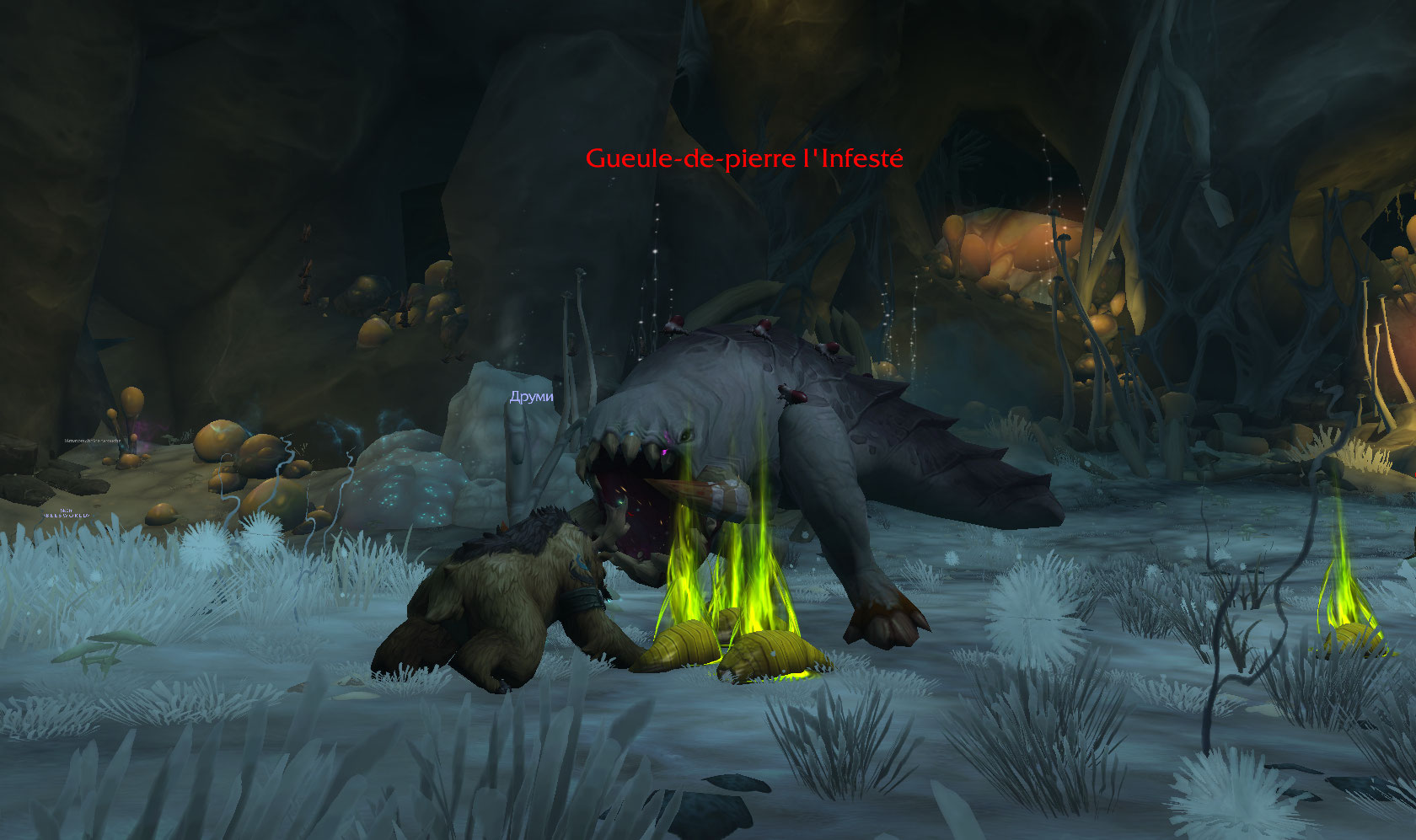 Screenshot du donjon Tréfonds Putrides sur World of Warcraft: Battle for Azeroth.