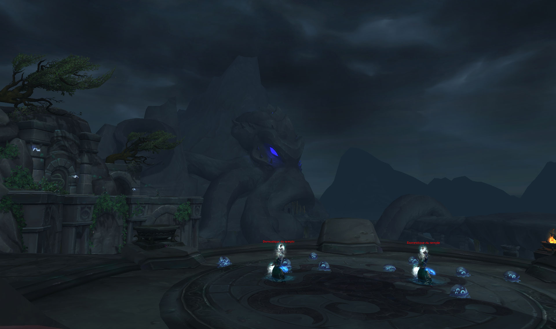 Screenshot du donjon Sanctuaire des Tempêtes dans World of Warcraft.