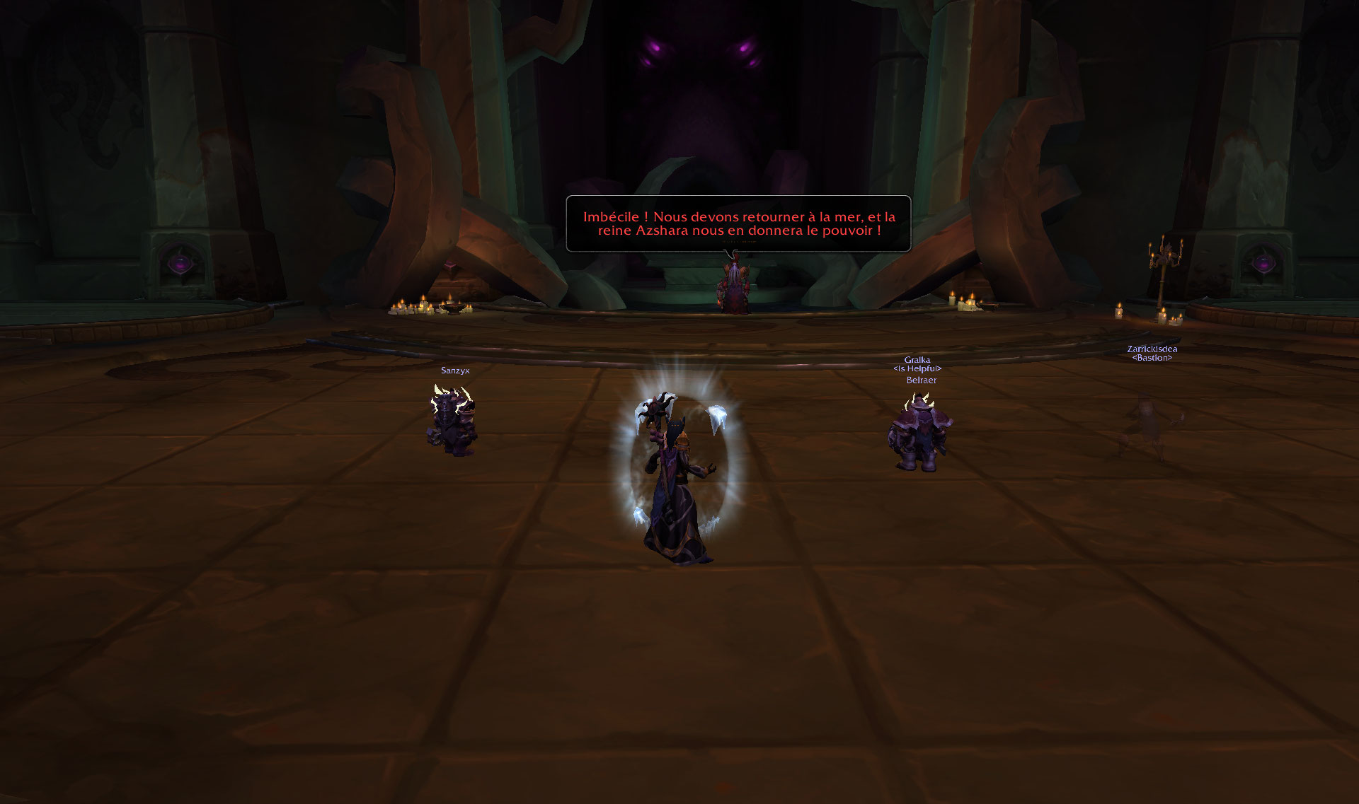 Screenshot du donjon Sanctuaire des Tempêtes dans World of Warcraft.