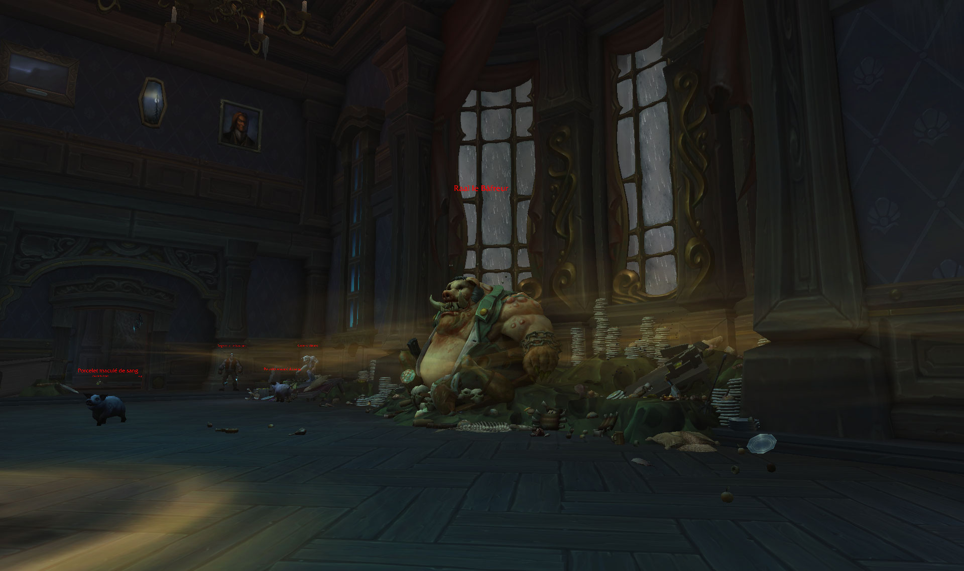 Screenshot du donjon Manoir Malvoie dans World of Warcraft.