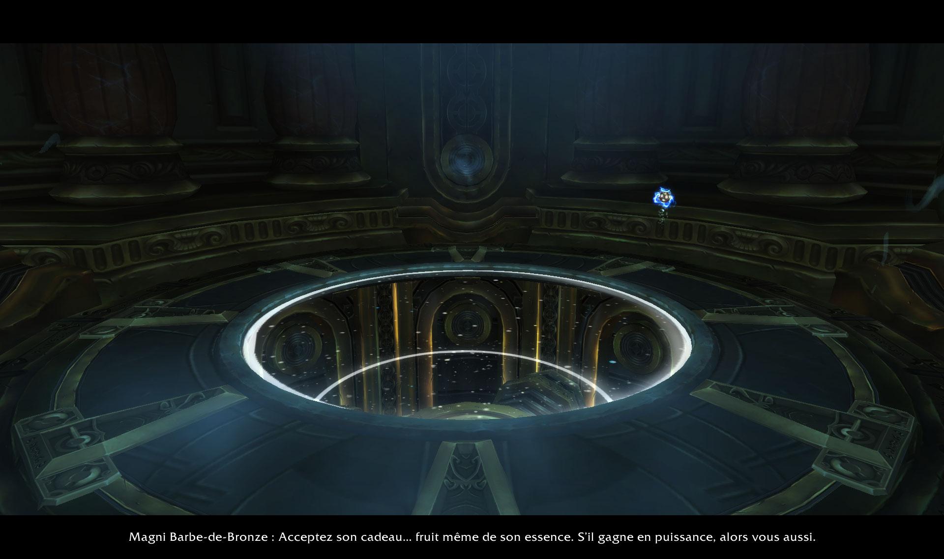 Screenshot de la récupération du Coeur d'Azeroth dans WoW: Battle for Azeroth.