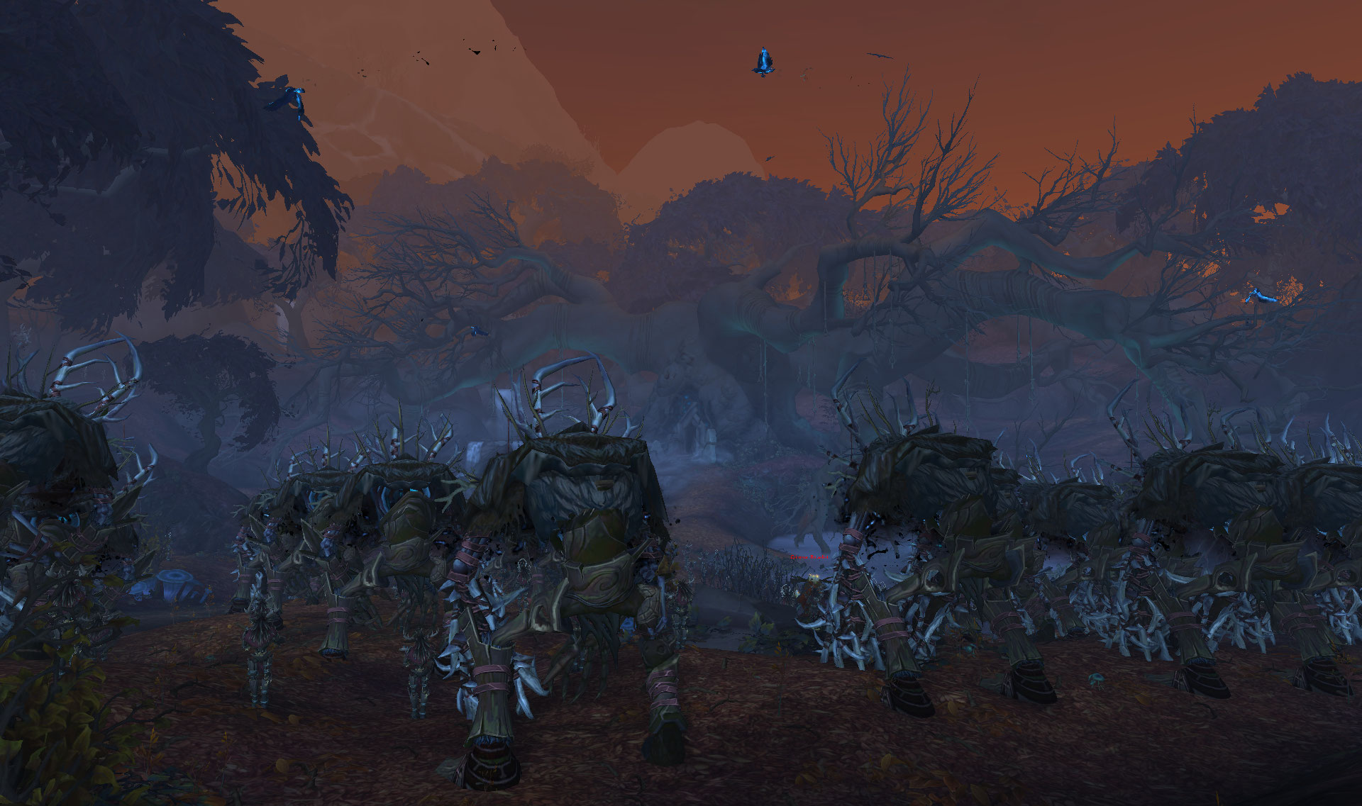 Screenshot de la zone de Drustvar dans World of Warcraft: Battle for Azeroth.