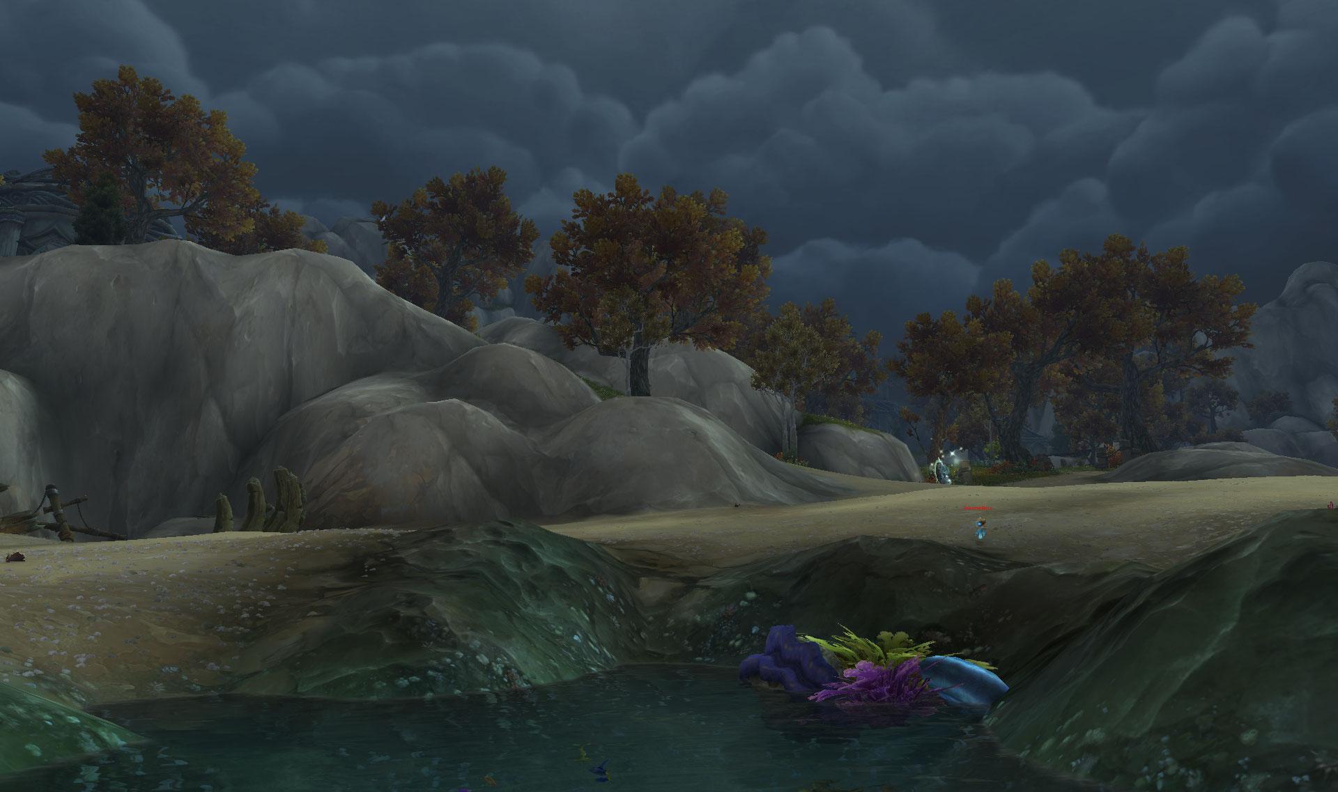 Screenshot de l'expédition dans les îles Whispering Reef dans WoW: Battle for Azeroth.