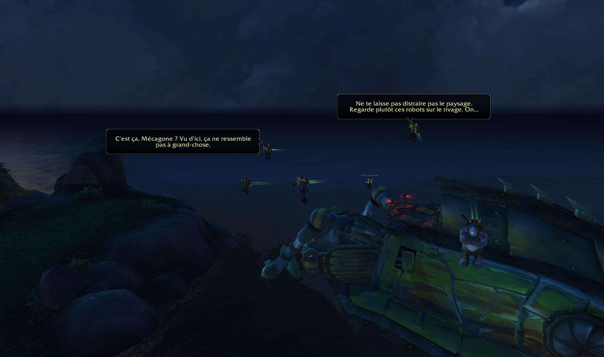 Screenshot de la zone Mécagone dans le patch 8.2 de World of Warcraft.