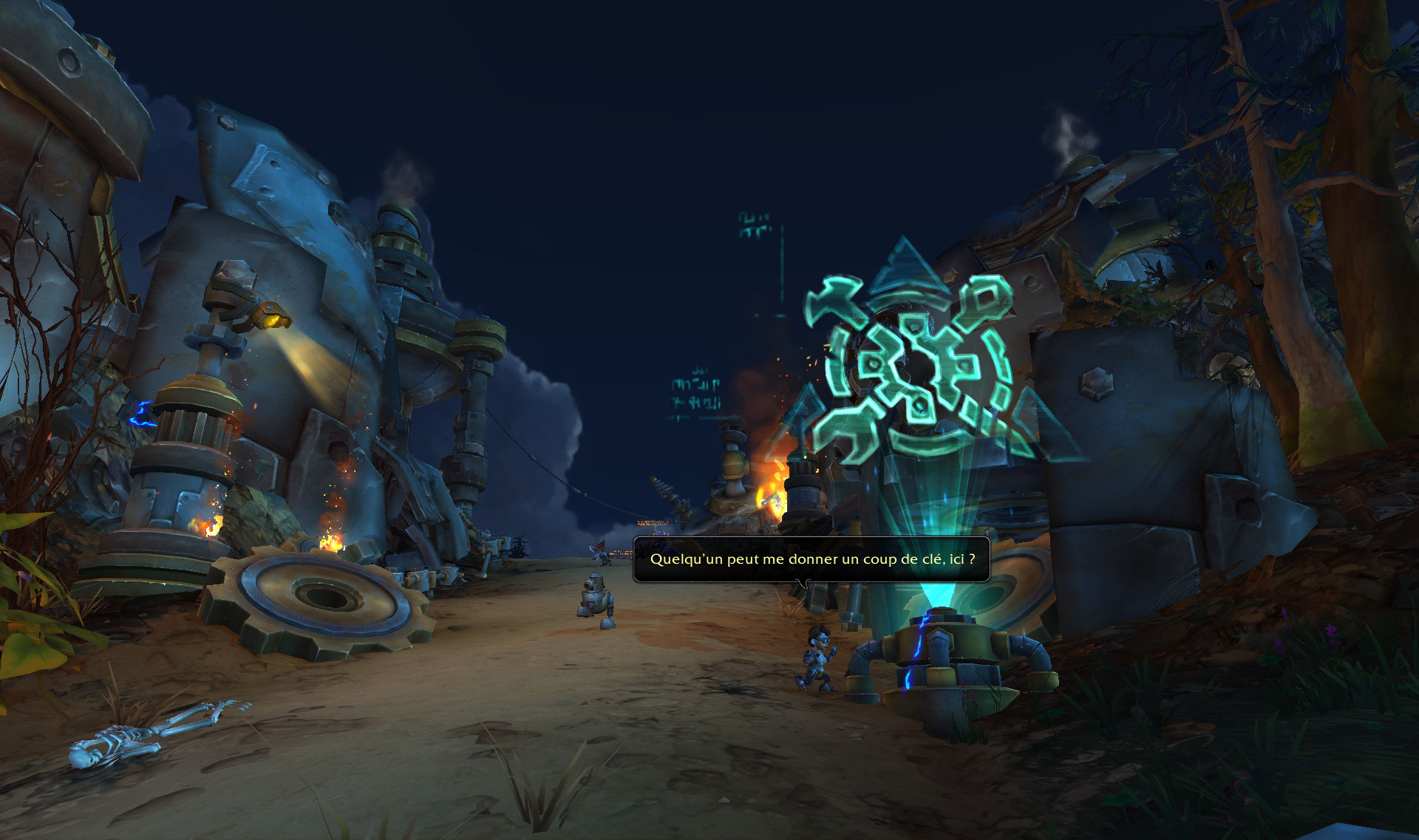 Screenshot de la zone Mécagone dans le patch 8.2 de World of Warcraft.