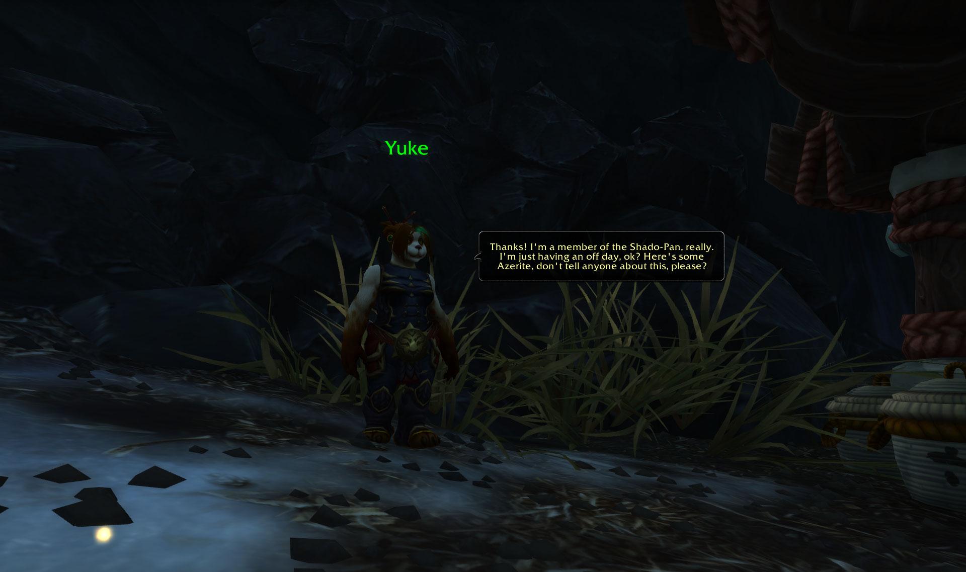 Screenshot de l'île Village Fleur-des-Neiges dans le patch 8.2 de World of Warcraft.