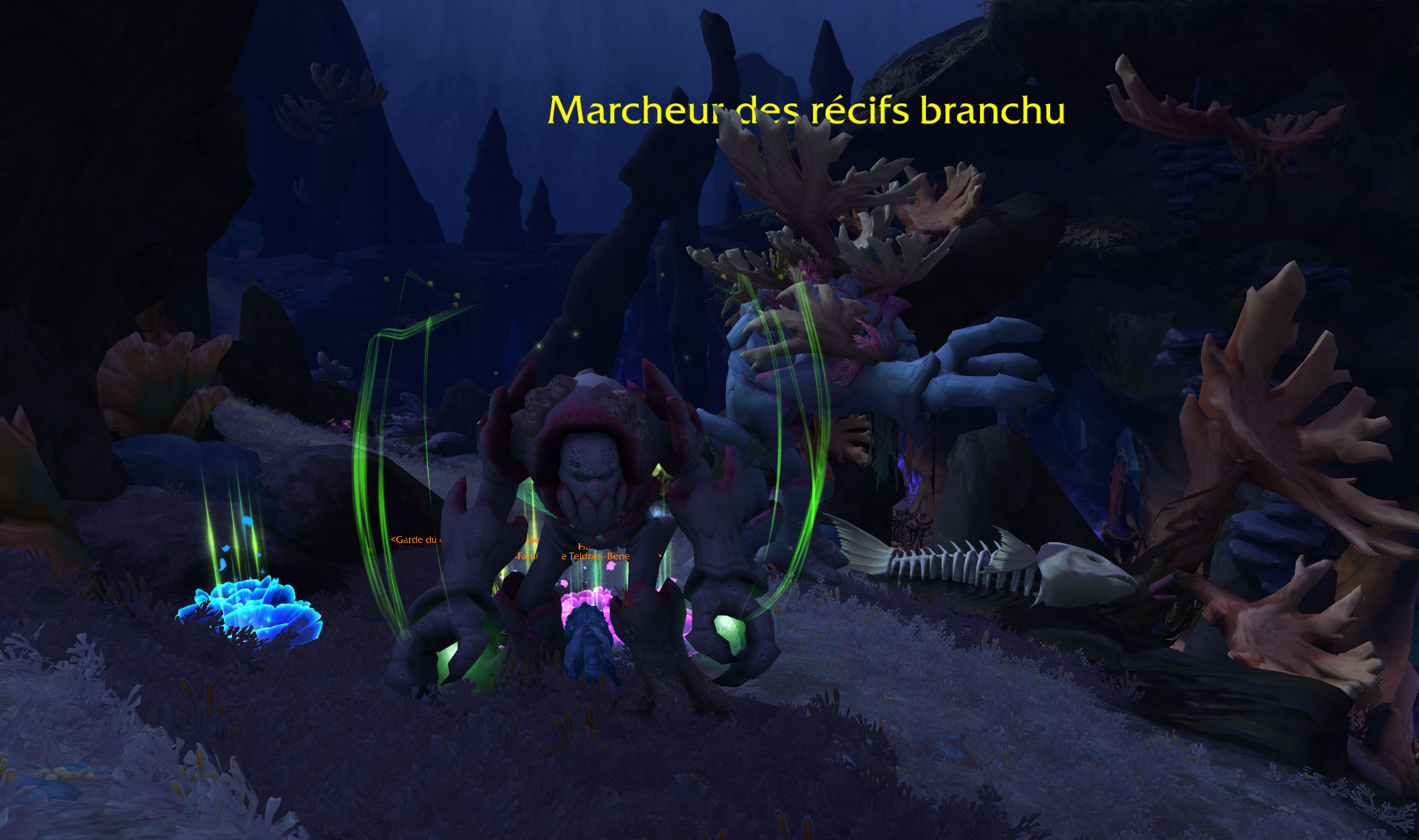 Screenshot de la zone de Nazjatar dans le patch 8.2 de World of Warcraft.