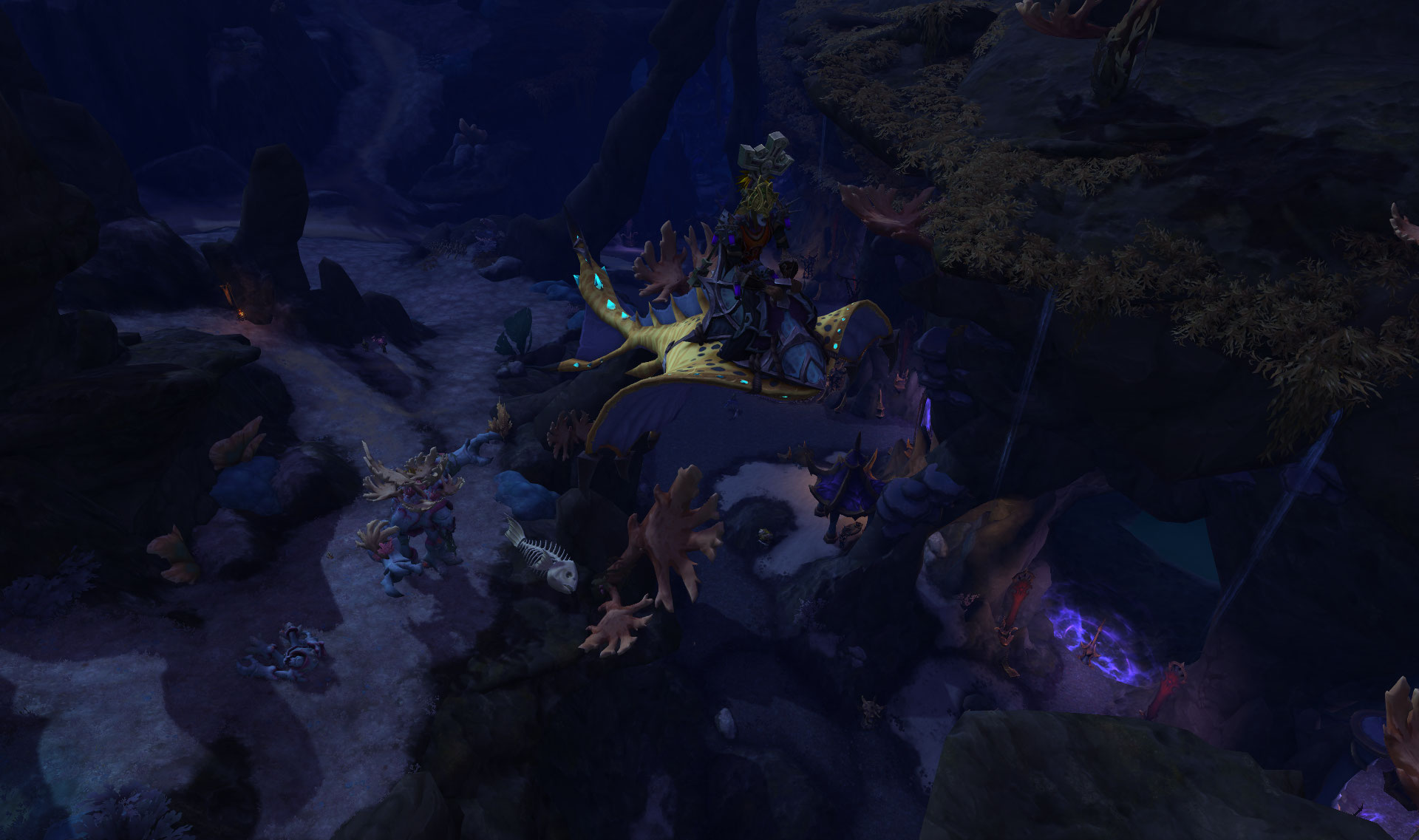 Screenshot de la zone de Nazjatar dans le patch 8.2 de World of Warcraft.
