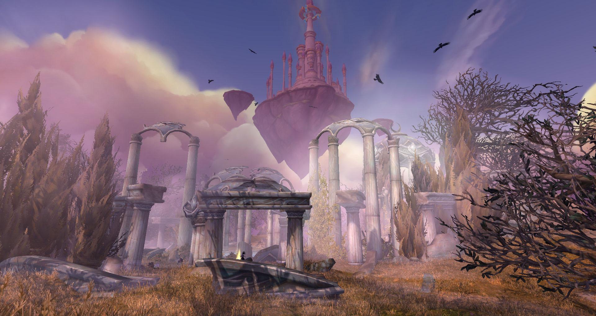 Screenshot de World of Warcraft: Legion. Zone d'Azsuna.
