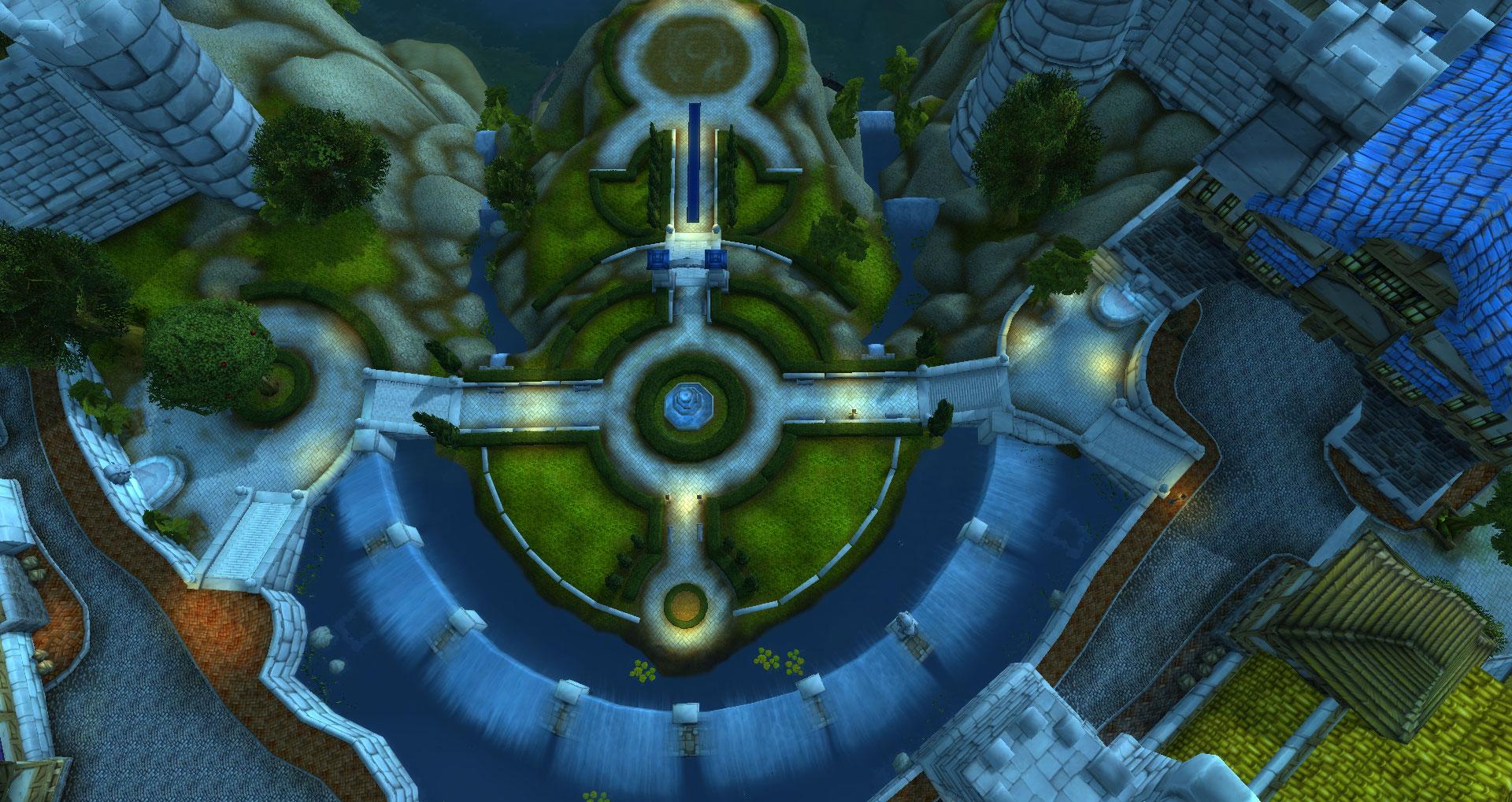 Screenshot de World of Warcraft: Legion. Parc de Hurlevent.