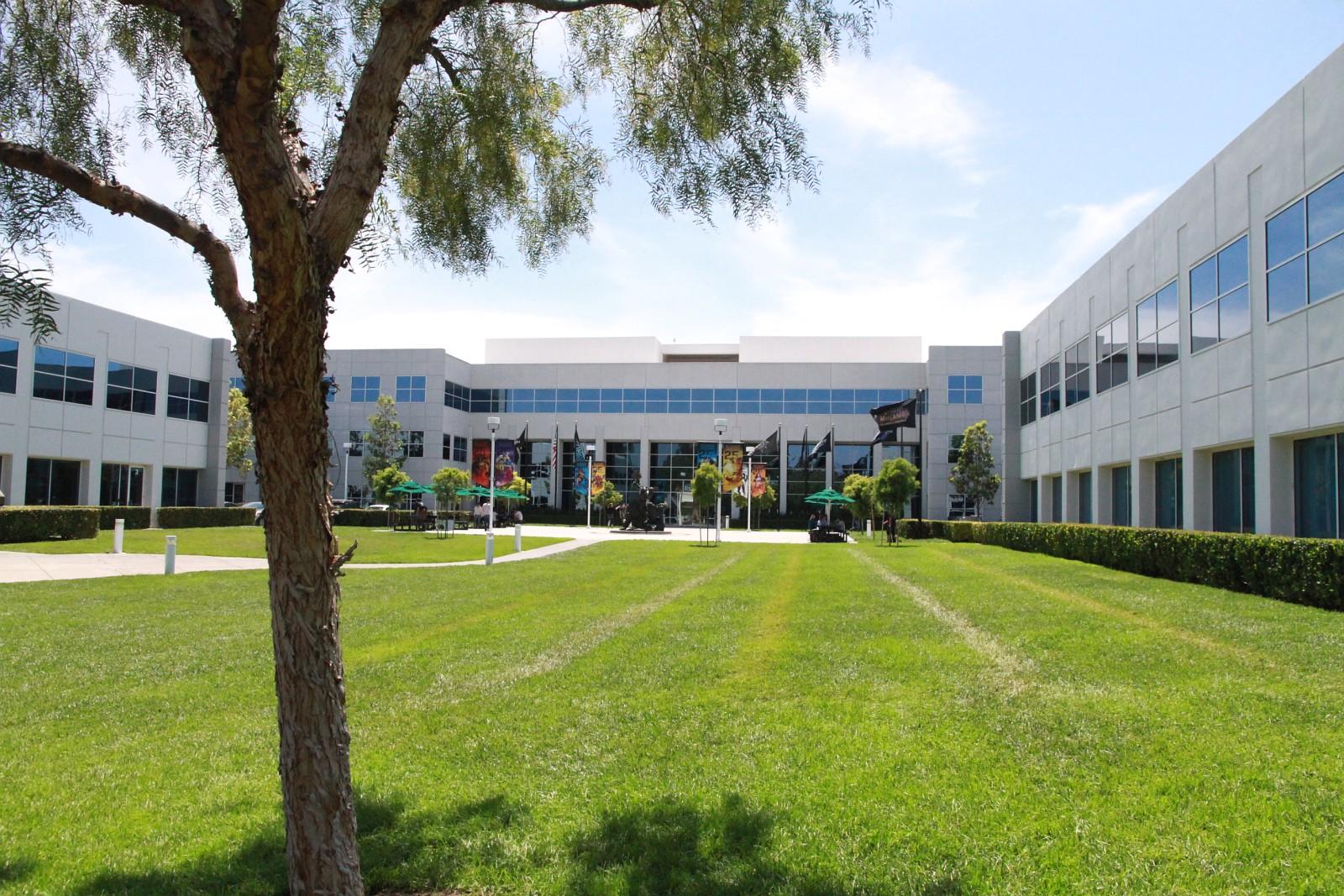 Photo du campus de Blizzard à Irvine prise lors du Press Tour de WoW: Legion le 7 juin 2016.