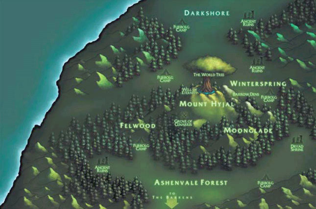 Origin of old warcraft 3 maps wow it is like some nightelf knew ahead of time that demons were gonna ruin that place gumiabroncs Choice Image
