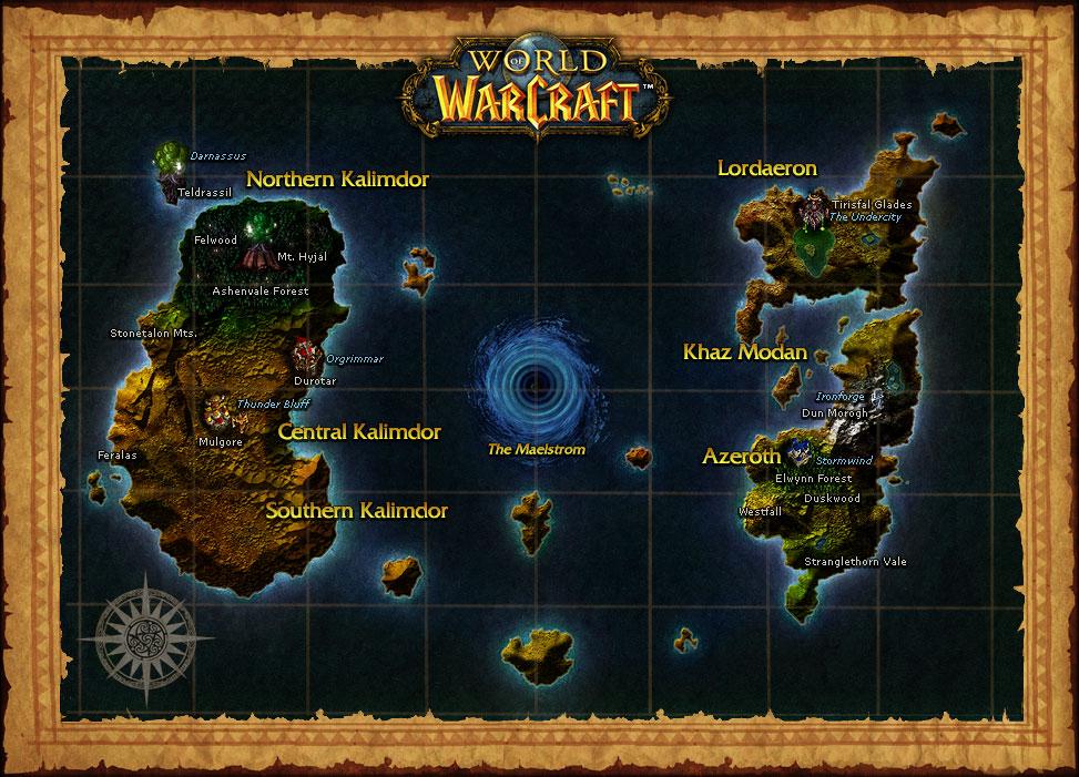 Carte de World of Warcraft