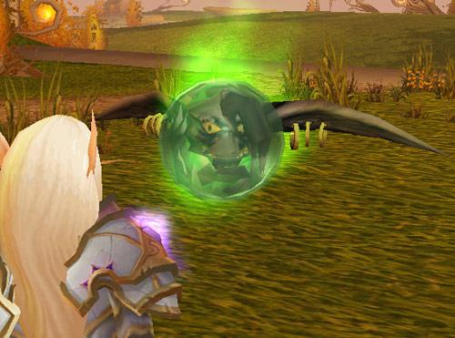 Screenshot d'un bonus du jeu de cartes WoW (édition Au travers la Porte des Ténèbres).
