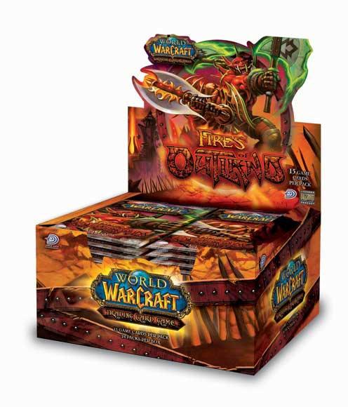 Boîte de 24 boosters Fires of Outland, 3ème série du jeu de cartes à collectionner WoW.