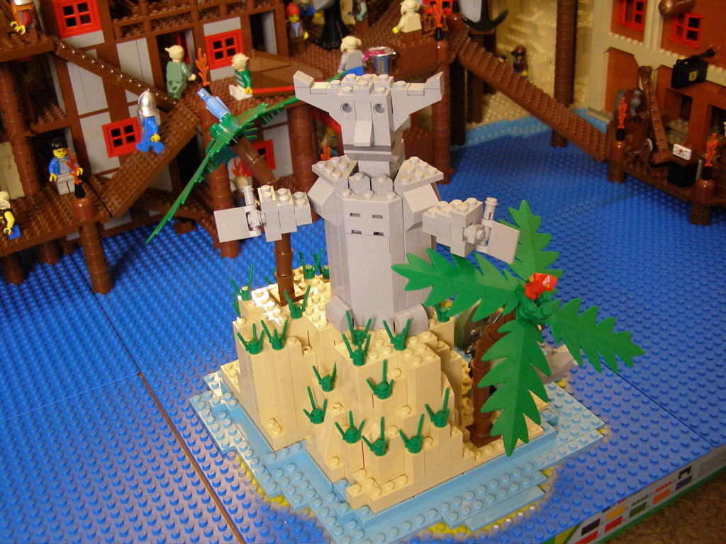 Baie-du-Butin en légo, réalisé par quelques joueurs de World of Warcraft.