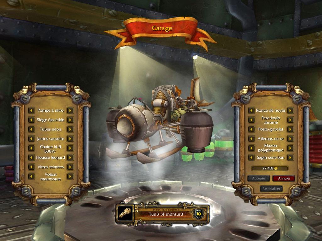 Screenshot de World of Warcraft (1er avril 2009).